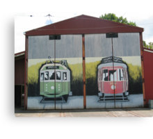 MURAL GRAFFITI TRAIN STATION  Canvas Print