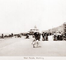 Marine Parade, Worthing, West Sussex. by CentenaryImages