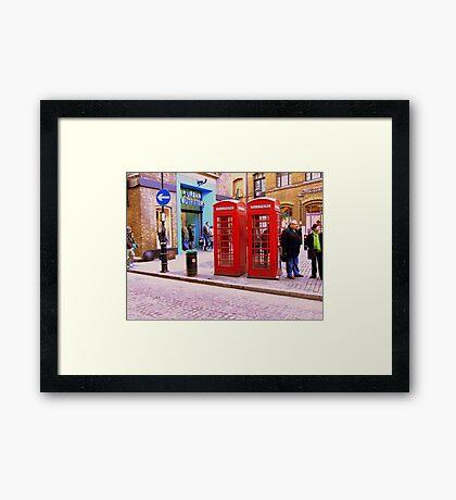 Phone Boxes London Framed Print