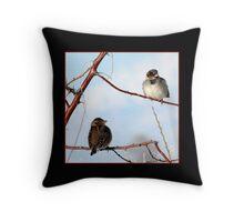 Sparrow Love Throw Pillow