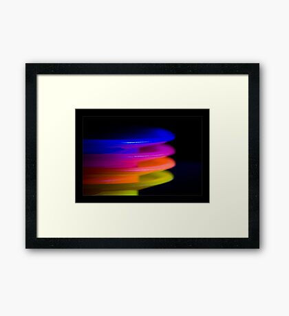coloured plates Framed Print