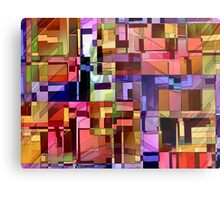 Artificial Boundaries Metal Print