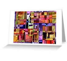 Artificial Boundaries Greeting Card