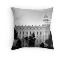 St.George LDS Temple Throw Pillow