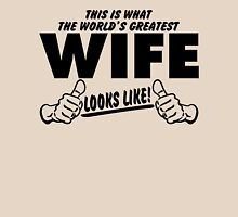 Worlds Greatest Wife Looks Like Womens Fitted T-Shirt