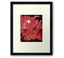 Stylistic Wildfire Framed Print