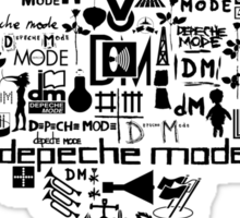 Depeche Mode : I Love DM Just Like Mom - Black Sticker