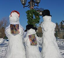 Winter choir, singing snow people by Rob vanNostrand