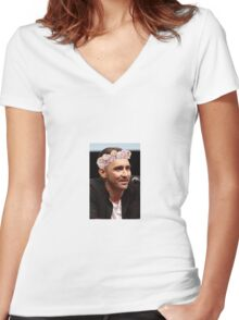 Lee Pace Women's Fitted V-Neck T-Shirt