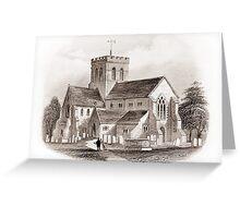 Broadwater Church, Broadwater, Worthing  Greeting Card