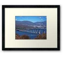 """Tasman Bridge, Hobart"" Framed Print"