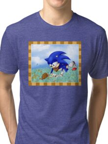 Sonic and the Hedgehog Tri-blend T-Shirt