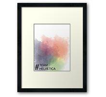 Team Helvetica Framed Print