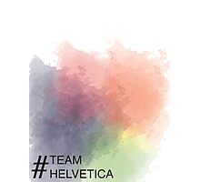Team Helvetica Photographic Print