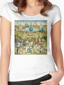 The Garden of Earthly Delights Full Image Women's Fitted Scoop T-Shirt