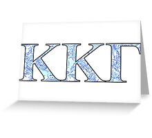 KKG Lilly Print Letters Greeting Card