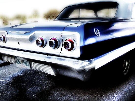 chevy impala, route 66, tulsa, oklahoma by brian gregory