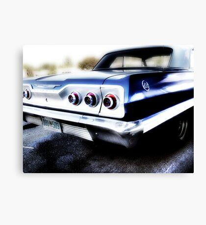 chevy impala, route 66, tulsa, oklahoma Canvas Print