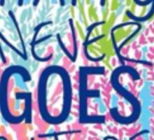 Lilly Pulitzer Typography Sticker