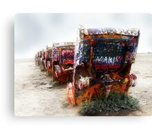 cadillac ranch, route 66, amarillo, texas Canvas Print