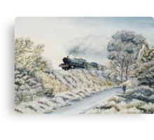 Manor in Winter Canvas Print