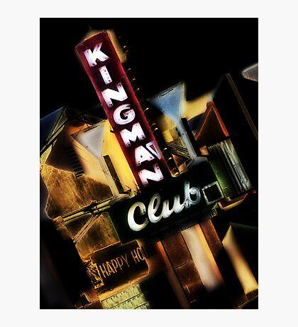 kingman club, route 66, kingman, arizona Photographic Print