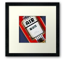 air, route 66, springfield, illinois Framed Print