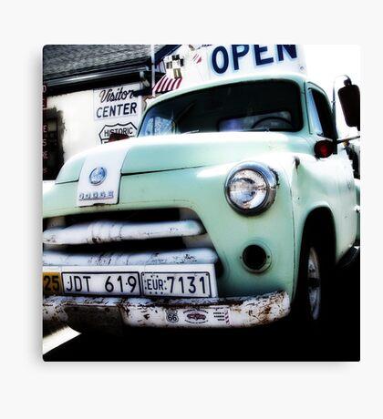 old dodge truck, route 66, seligman, arizona Canvas Print