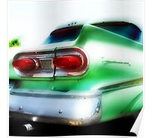 green ford fairlane, route 66, oklahoma city, oklahoma Poster