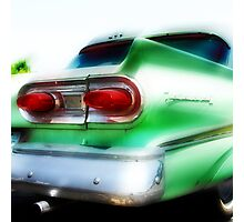 green ford fairlane, route 66, oklahoma city, oklahoma Photographic Print