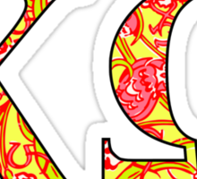 Chi Omega Lilly Letters Sticker