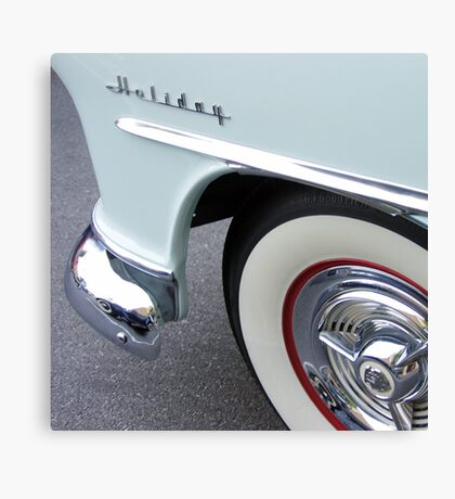oldsmobile holiday, route 66 Canvas Print
