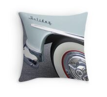 oldsmobile holiday, route 66 Throw Pillow