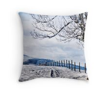 The Snow - The Fence - The Tree Throw Pillow