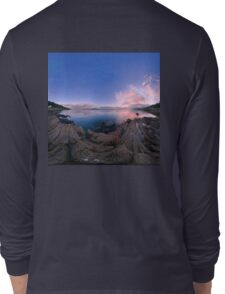 Dusk Shoreline near Moville, Donegal (Rectangular) Long Sleeve T-Shirt