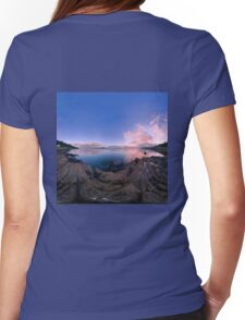 Dusk Shoreline near Moville, Donegal (Rectangular) Womens Fitted T-Shirt