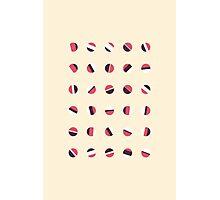 Axises - Random Number Generator Math Art Photographic Print