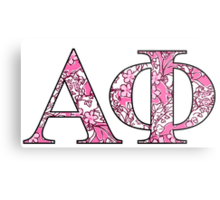 Alpha Phi Lilly Letters Metal Print