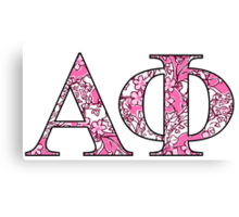 Alpha Phi Lilly Letters Canvas Print