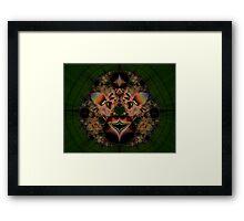 Fractal Lion Framed Print