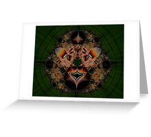Fractal Lion Greeting Card