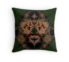 Fractal Lion Throw Pillow