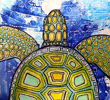Green Sea Turtle by Lynnette Shelley
