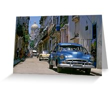 Havana Side Street Greeting Card