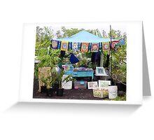 Booth at Maku'u Farmer's Market Greeting Card