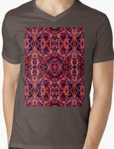 Ethnic Style Mens V-Neck T-Shirt