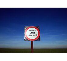 No entry! Photographic Print