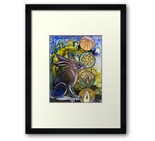 In the Moon Rabbit's Garden Framed Print