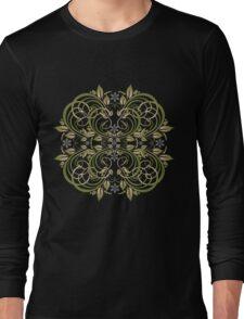 green vintage pattern Long Sleeve T-Shirt