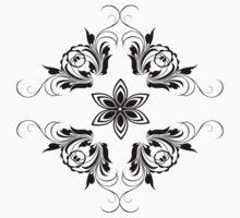 black vintage pattern by VioDeSign